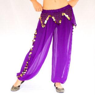 Sitara Harem Pants Purple Gold