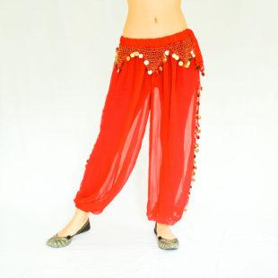 Sitara Harem Pants Gold Red