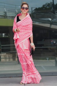 Indian Mekhela Pink for formal occasion