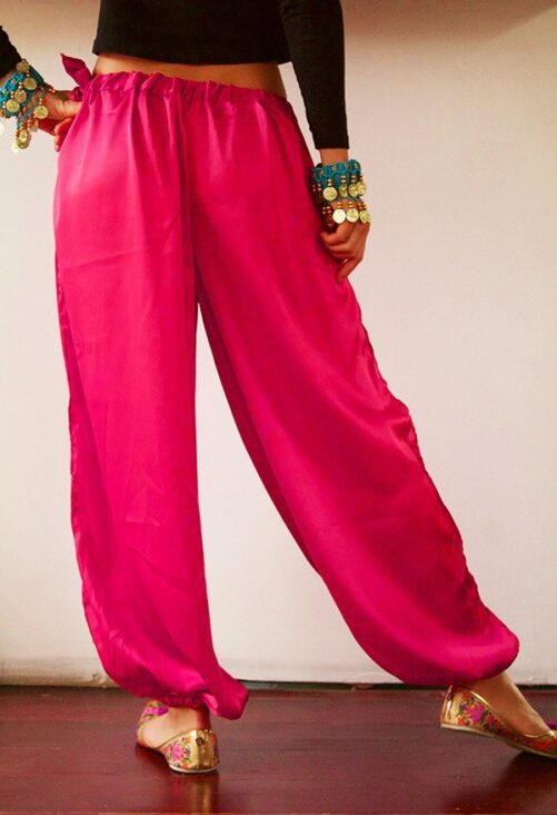 Satin Harem Pants Pink