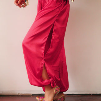 Satin Harem Pants Pink