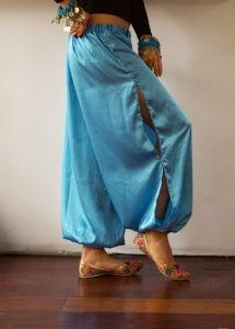 Satin Harem Pants Turquoise