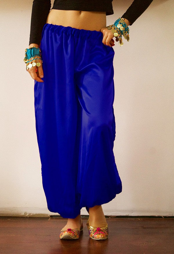 Satin Harem Pants Blue Devs Costumes Australia