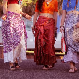 Silk Saree Skirt