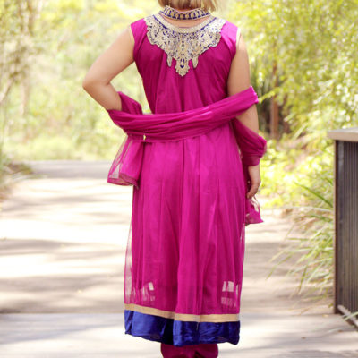 Indian outfit pink
