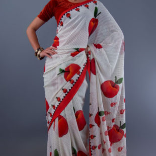 Natures Delight Indian Chiffon Saree