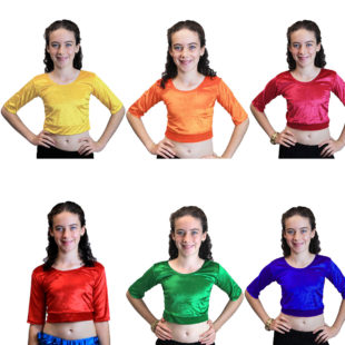 Velvet Stretchy Crop Top ( 9 to 13 yrs)