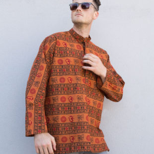 Mantra Indian cotton Shirt Chili Red