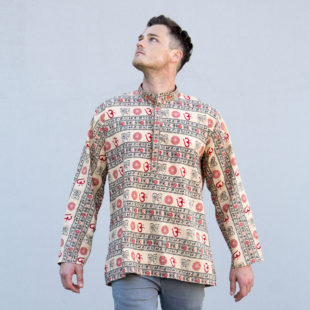 Mantra Indian cotton Shirt Light Gold