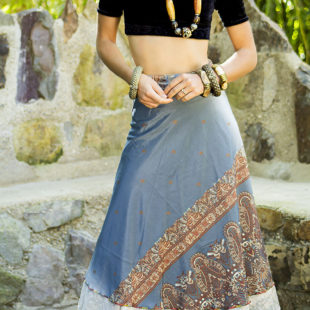 Two Layer Silk Skirt 393