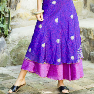 Two Layer Silk Skirt 392