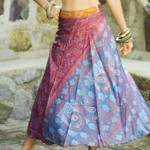 Two Layer Silk Skirt 391