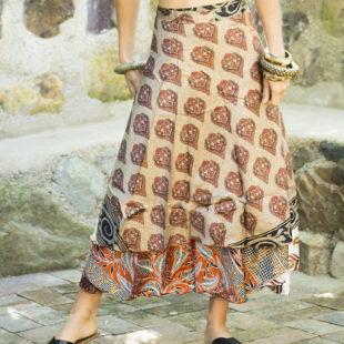 Two Layer Silk Skirt 390