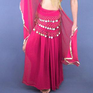 2 Layers Chiffon skirt Pink