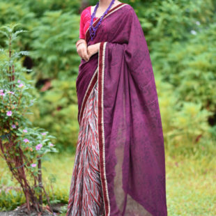 Krish Chiffon Printed Saree 14