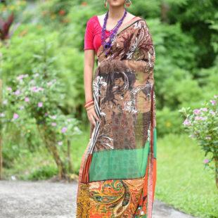 Krish Chiffon Printed Saree 12