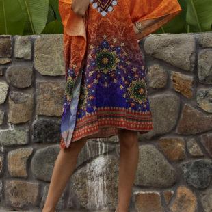 Pahi Midi Dress Kaftan 6