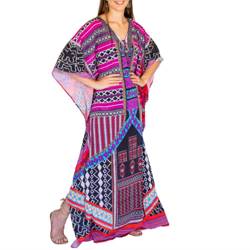 Satin long kaftan