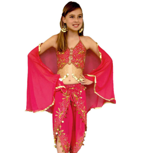 Bollywood kids pink outfit