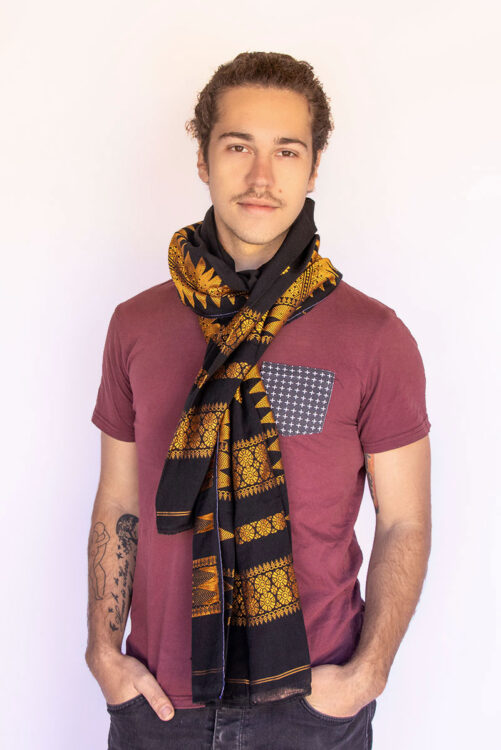 Assamese mens scarf from India