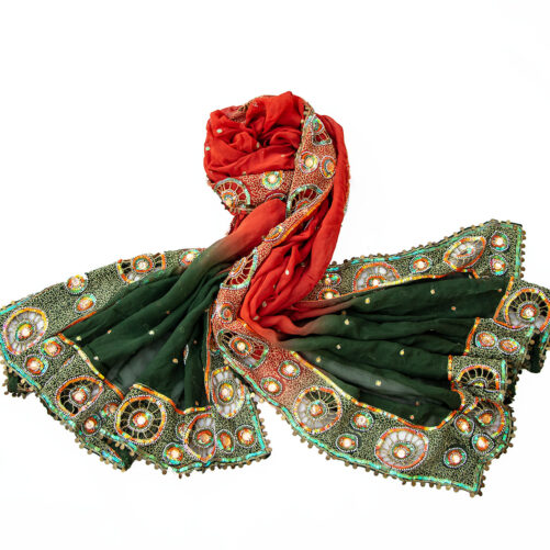 Indian embroidery veil