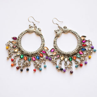 Antique Finished Glass beaded earrings