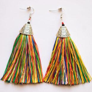 Silk Fringed Earrings