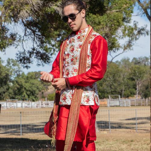 Indian mens jacket set